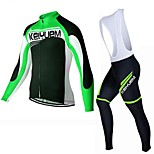 KEIYUEM®Others Spring/Summer/Autumn Long Sleeve Cycling Jersey+Bib Tights Ropa Ciclismo Cycling Clothing Suits #L3