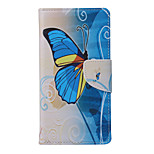 Butterfly Pattern PU Leather Full Body Case with Stand and Card Slot for Huawei Ascend P9 Lite/P8 Lite