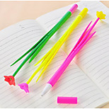Simulation Plants Flowers Neutral Creative Office Stationery Ballpoint Pen Cute Soft Silicone