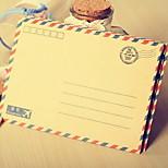 8 Cute Retro Long Western Postcards Storage Envelopes