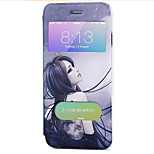 Body collant Mise en veille automatique Dessin-Animé Cuir PU Dur Couverture de cas pour Apple iPhone 6s Plus/6 Plus / iPhone 6s/6