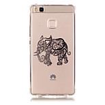 TPU Material Elephant Pattern Bronzing Phone Case for  Huawei  P9 Lite/P9/ P8 Lite