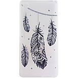 Feathers Pattern Frosted TPU Material Phone Case for Sony Xperia Z5 Premium/Z5