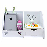 Waterproof Cosmetics Containing Cute Desktop Drawer Storage Box Box Multifunctional Creative Green Wood