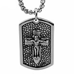 In The Cross of Jesus Brand Titanium Pendant Necklace