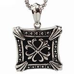 Quan Zhilong Nicholas Tse's Personality Titanium Cross Pendant Necklace