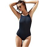 Europe Sexy Halter Swimwear  Splicing Tape Piece Pants Coveralls
