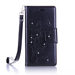 For Huawei Ascend P9 Lite/P9 Luxury Retro  Butterfly Diamonds embossed wallet Phone Cover With Stand Card Holder