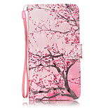 PU Leather Material 3D Painting Cherry Tree Pattern Phone Case for LG K5/K7/LS775