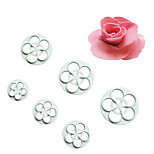 6Pcs Roses DIY Cutting Mould Double Sugar Cake Decoration Mold