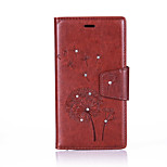 Dandelion Lanyard Embossed Diamond Phone Holster Phone Shell for iPhone 5/5S/SE/6/6S/6S Plus/6 Plus