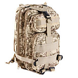 30 L Backpack / Rucksack Camping & Hiking Outdoor Waterproof / Shock Resistance Light Yellow Nylon