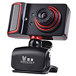 USB 2.0 Webcam 1.3M CMOS 1280*960 45fps Red/Black