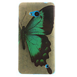 Butterfly Pattern TPU+IMD Soft Case for Multiple Nokia Lumia 640/N535/N630/N530