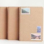 Simple A6 6 Holes Loose-leaf Kraft Notebook