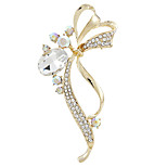 Hot Sale Fashion Gold Rhinestone Flower Bouquet Brooches for Party