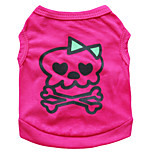 Gatti / Cani T-shirt Rosa Estate Teschi Di tendenza-Pething®, Dog Clothes / Dog Clothing