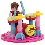 Wagos Buoubuou Girl Assembly Assembled Diamond Type Plastic Toy Drum Blocks Toys