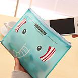 Korean Stationery Cute Cartoon B6 Zipper Pen Bags Ziplock Bags(B6 Random Colors)