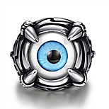 Eyes of Fire Crystal Titanium Steel Lover Couple Rings Men Jewelry Antique Vintage Jewelry Ring R235
