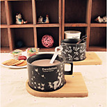 Frosted Mug Simple Life Love Dandelion Coffee Cup Set With Spoon Ceramic Cup Lovers Winter