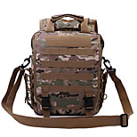 30 L Backpack / Rucksack Camping & Hiking Outdoor Waterproof / Multifunctional Army Green 600D Ripstop