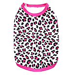 Gatti / Cani T-shirt Nero / Rosa Estate Leopardo Leopardo / Di tendenza-Pething®, Dog Clothes / Dog Clothing