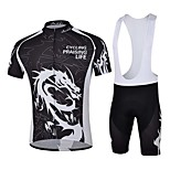 Sports Bike/Cycling Jersey + Shorts / Tops / Bottoms Men's Short Sleeve Breathable / Sweat-wicking Elastane WhiteS / M / L / XL / XXL /