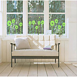 Beautiful Flower Wall Stickers Affixed To The Glass With A Small Pvc Removable Wall Stickers