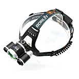 5000 Lumens 3 XM-L T6 LED Rechargeable Bike Light Lamp with EU Charger and Headband
