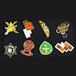 Pocket Little Monster Ash Ketchum League Badges 8 Pieces in a Set