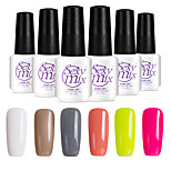 6PCS Sexymix Nail Polish Sets 7ml UV Gel Shining Color Varnish Soak off Long Lasting NO.6