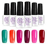 6PCS Sexymix Nail Polish Sets 7ml UV Gel Shining Color Varnish Soak off Long Lasting NO.7