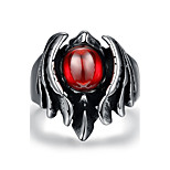 Animal Design RingPunk Style Titanium & Zirconia Fashion Jewelry Ring For Men  244