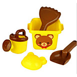 Five Sets of Children Playing With Sand Beach Toys Suit Indian Cartoon Winnie the Beach Bucket Shovel