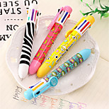 Visual Multifunction Eight-Color Ballpoint Pen Cute Multicolor Ballpoint Pen Pressed Color Ink Cartridge 8