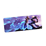 cartoon gaming mouse pad met super groot formaat 900 * 400 mm en vergrendelen rand voor desktop en laptop