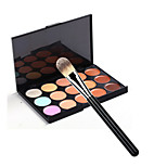 Makeup Brush Set 15 Color Concealer+1pcs Makeup Brush