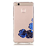 TPU Material Blue Rose Pattern Bronzing Phone Case for  Huawei  P9 Lite/P9/ P8 Lite