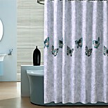Country Butterfly Pattern Shower Curtains W71