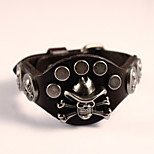 Rider Harley Motor Cycles Punk Skull Rivet Men Bracelets Wide Retro Cowboy Leather Bracelet