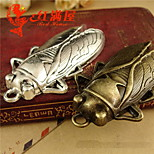 Cute Cicada Silver/ Bronze Alloy Pendant 20pcs Set