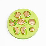 Mini Cartoon Face Foot Palm Silicone Mold Polymer Clay Chocolate Candy Making Sugarcraft Tools Fondant Cake Decorations