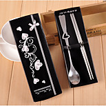 Upscale Married Favor Small Gifts Small Gifts Promotions Stainless Steel Cutlery Set Spoon Chopsticks Love Black Box