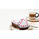 3.5-Inch Small Heart-Shaped Cake Pan Pudding Mold Muffin Cake Mold Non-Stick Carbon Steel Gold Love