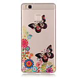 TPU + IMD Material Butterfly Pattern Slim Phone Case for Huawei P9 Lite/P9/P8 Lite/Y625
