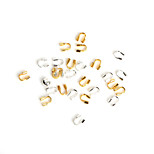 Beadia 100Pcs 4x4mm Iron Beads Wire Guard Guardian Protectors loops Jewelry Findings