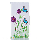 Blue Butterfly Pattern Card Phone Holster for LG K7/K8/K10