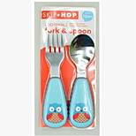 Stainless Steel  Baby Fork and Spoon(Owl)
