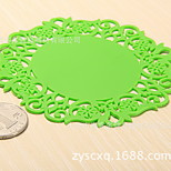 Insulation Coasters Silica Gel Pad Insulation Mat Coasters Hollow Flowers Utility